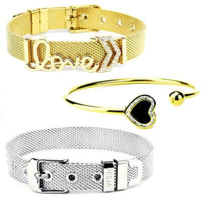 Bracciali acciaio braccialetti inox uomo donna
