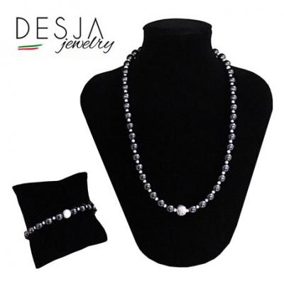 Completo collana e bracciale in pietre naturali e argento