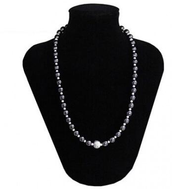 collana donna pietra dura naturale ematite argento
