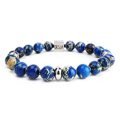 Bracciale pietre diaspro azzurro