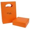 Confezione bracciale pietre con shopper arancione desja