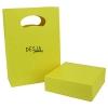 Confezione bracciale pietre con shopper giallo desja