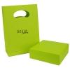 Confezione bracciale pietre con shopper verde desja