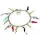 Braccialetto Lucky donna con corni colorati in argento 925