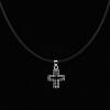 croce latina con zirconi neri in argento 925