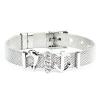 Bracciale Ajsed Ancor acciaio maglia Milano con charme color argento