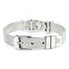 Bracciale Ajsed mare acciaio maglia Milano con charme color argento