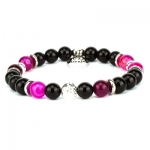 braccialetto agata viola onice nero
