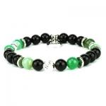 braccialetto agata verde onice nero