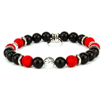 braccialetto turchese rosso onice nero