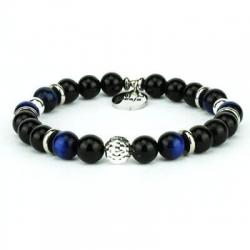 braccialetto occhio di falco blu