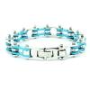 bracciale azzurro catena moto