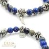 Bracciale donna diaspro blu corno argento 925 | Kaja