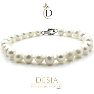 Bracciale con perle coltivate AA e chiusura argento 925 | Pearl Siville