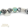 braccialetto elastico pietra naturale diaspro azzurro
