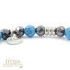 bracciale pietra dura naturale turchese azzurro