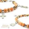 Cavigliera pietra dura naturale Agata multicolore arancio | Ayla