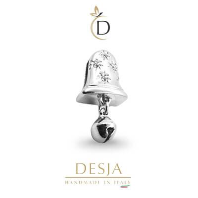 Charme per bracciale Ajsed - Campana color argento
