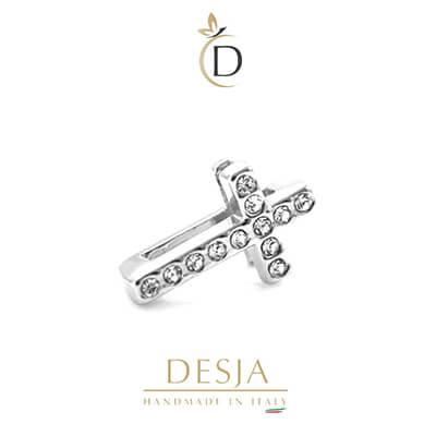 Charme per bracciale Ajsed - Croce color argento