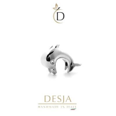 Charm per bracciale Ajsed - Delfino charm color argento