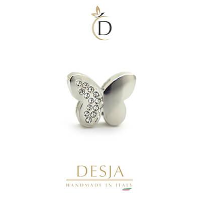 Charme per bracciale Ajsed - Farfalla color argento