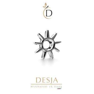 Charme per bracciale Ajsed - Sole charm color argento