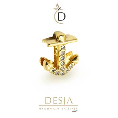 Charme per bracciale Ajsed - Ancora mare color oro