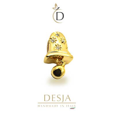 Charme per bracciale Ajsed - Campanella color oro