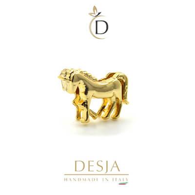 Charm per bracciale Ajsed - Unicorno coloro oro