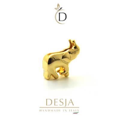 Charme per bracciale Ajsed - Elefantino color oro