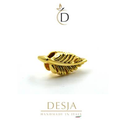 Charm per bracciale Ajsed - Fogliolina color oro