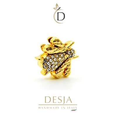 Charm per bracciale Ajsed - Ape regina color oro