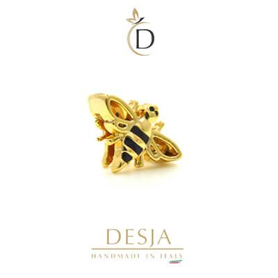 Charme per bracciale Ajsed - Ape smaltata color oro