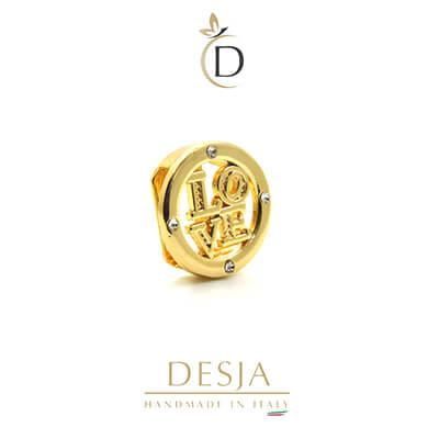 Charme per bracciale Ajsed - Cerchio LOVE color oro