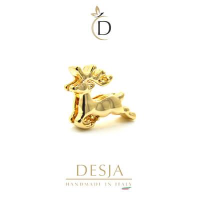 Charm per bracciale Ajsed - Renna charme color oro