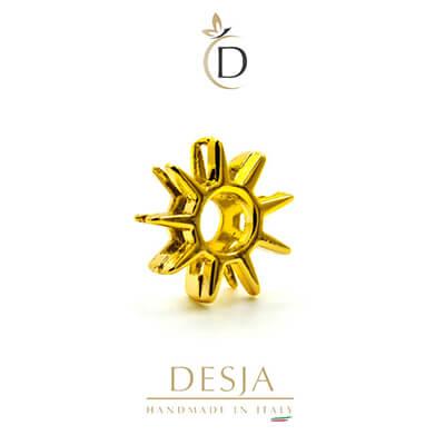 Charm per bracciale Ajsed - Sole stilizzato color oro