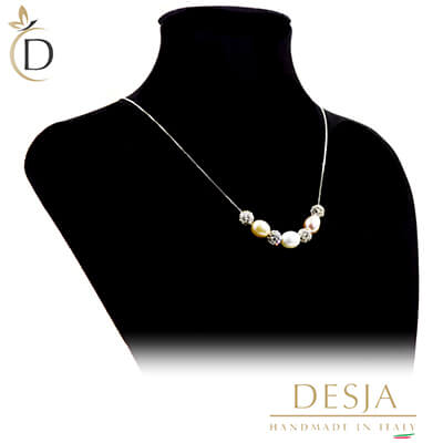 Collana di perle colorate Argento 925 | Color Pearl