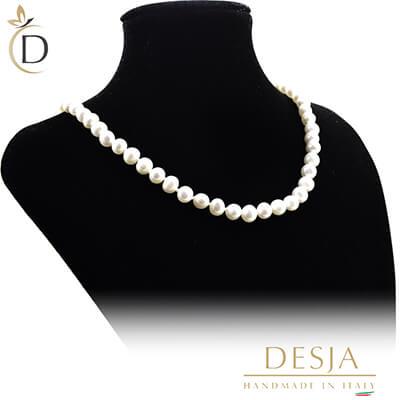 Collana di perle 7 mm AA con argento 925 | Pearl Seville