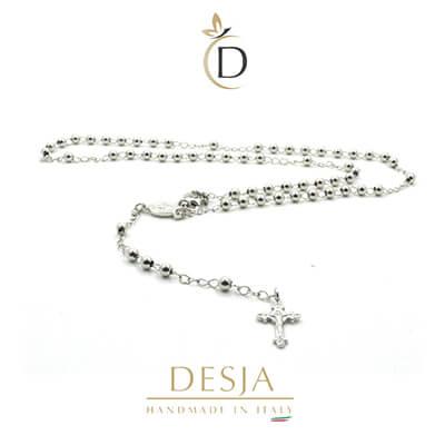 Collana rosario uomo donna unisex in argento 925 | Ismael