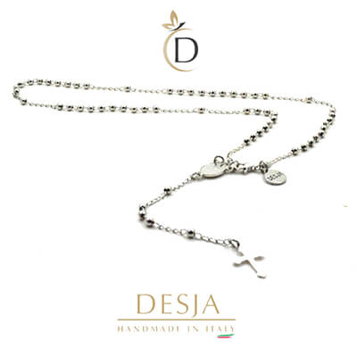 Collana uomo donna rosario in argento 925 | Micol