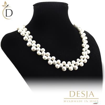 Collana con perle 6-8 mm chiusura argento 925 | Pearl White
