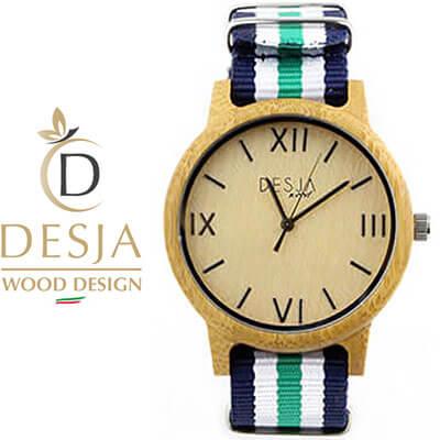 Orologio in legno da polso unisex cinturino Nylon | Sorrento