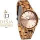 Orologio in legno zebrato analogico a quarzo donna | Matera