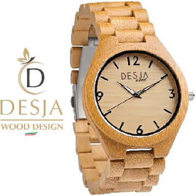Orologio da polso in legno Bamboo carbonizzato Desja | Savona