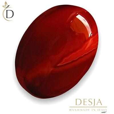 Variante della pietra preziosa agata: la pietra agata rossa